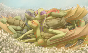 More Turtle-Dragon Snuggles by JazzTheTiger