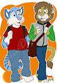 Moroni and Blue Taking a Walk by bluedigitalcat