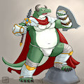 Belze, the holy knight by ShinodaKuma