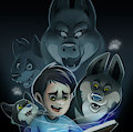 The wolf pack   Comic cover by KoidelCoyote